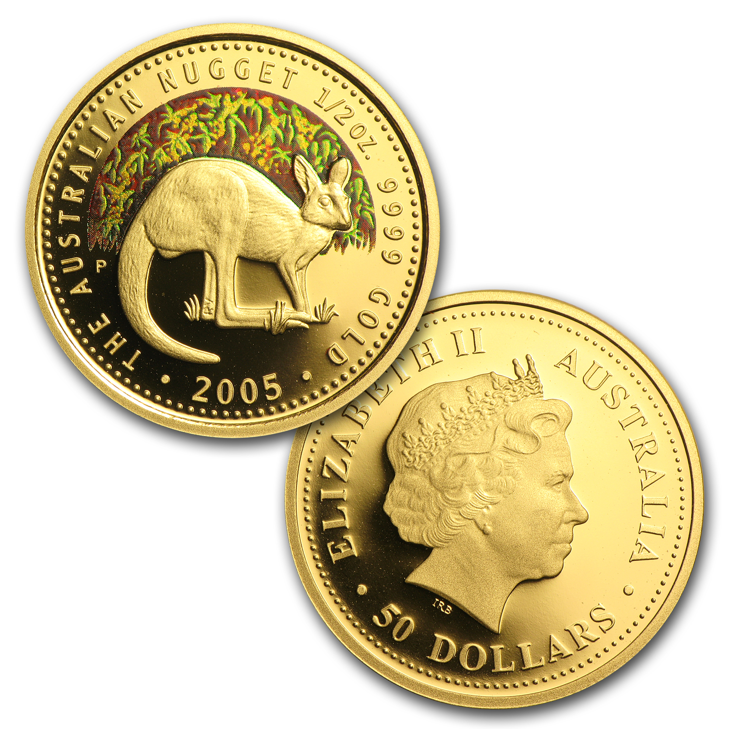 2005 5 coin Australian Proof Gold Nugget Set